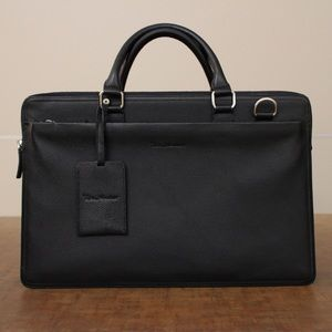 New Rich Mbariket Men's Genuine Leather Briefcase